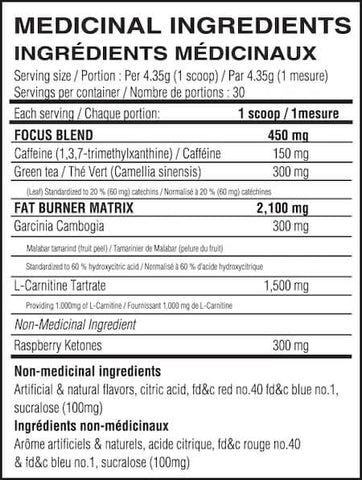 Believe Supplements Energy + Burner Nutrition Facts at Supplement Superstore Canada