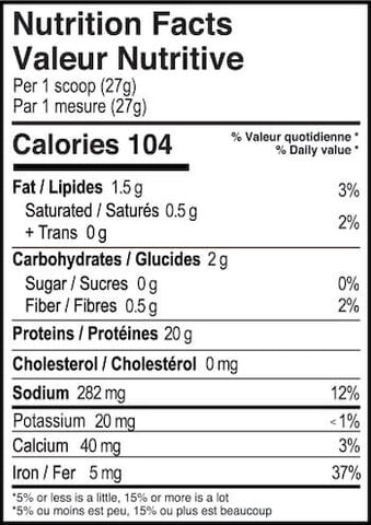 Believe Supplements Flavored Vegan Nutrition Facts at Supplement Superstore Canada