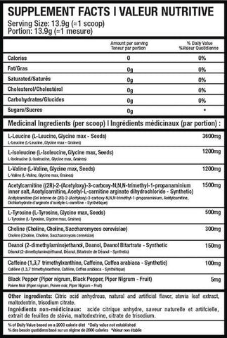 Beyond Yourself Amino IQ Nutrition Facts at Supplement Superstore Canada