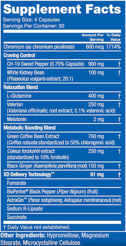 Blue Star Nutraceuticals Blade PM Nutrition Facts at Supplement Superstore Canada
