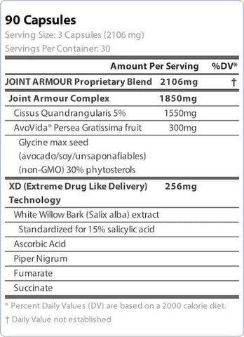 Blue Star Nutraceuticals Joint Armour Nutrition Facts at Supplement Superstore Canada