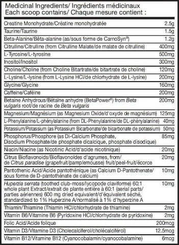 BSN NO Xplode Nutrition Facts at Supplement Superstore Canada