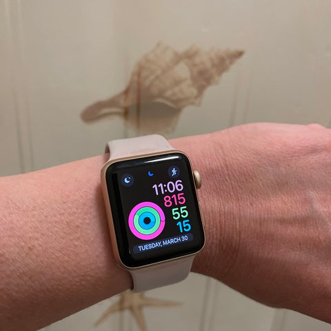 Fitness activity displayed on Apple Watch