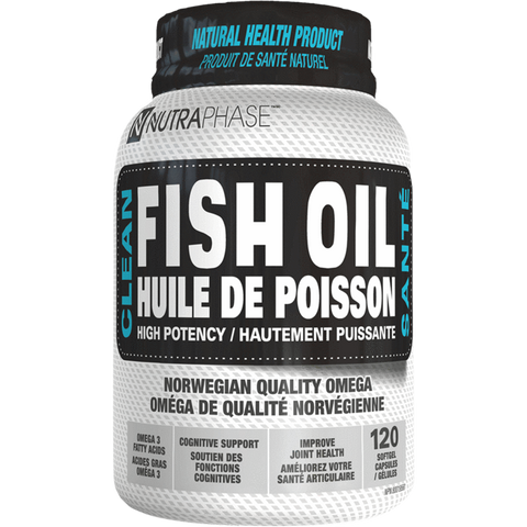 Clean Fish Oil NutraPhase Omega-3 Supplement Superstore