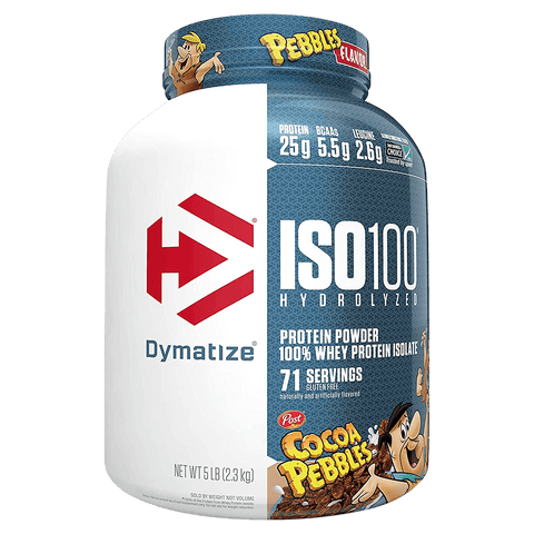 Iso-100 Protein Powder Dymatize Hydrolyzed Whey Protein Isolate Supplement Superstore