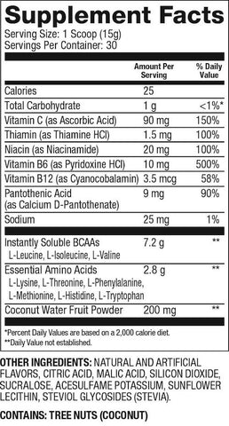 Dymatize All 9 Amino Acid EAA and BCAA Formula Nutrition Facts at Supplement Superstore Canada