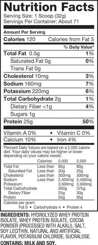 Dymatize Iso-100 Nutrition Facts at Supplement Superstore Canada