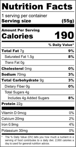 Eat Me Guilt Free Brownie Nutrition Facts at Supplement Superstore Canada