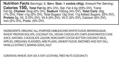 Eat Me Guilt Free Vegan AF Cookie Nutrition Facts at Supplement Superstore Canada