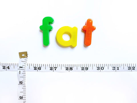 """""""Fat"""" with a measuring tape under"""
