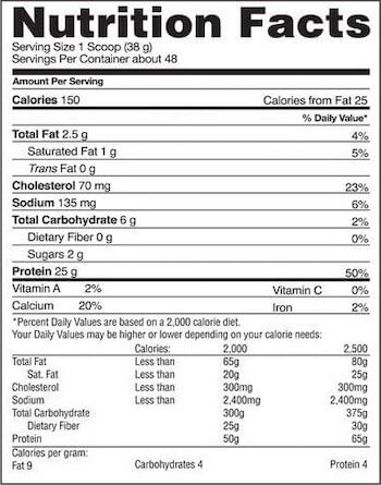 Gaspari Nutrition MyoFusion Advanced Protein Nutrition Facts at Supplement Superstore Canada