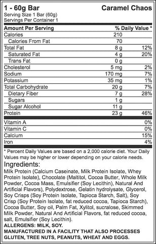 Grenade Carb Killa Protein Bar Nutrition Facts at Supplement Superstore Canada