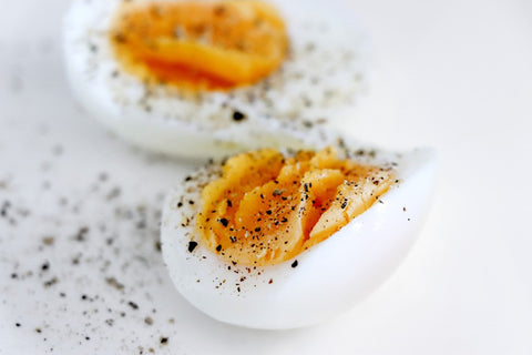 Hard Boiled Egg with Pepper for Protein After a Workout