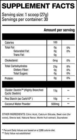 HD Muscle Carb-HD Nutrition Facts at Supplement Superstore Canada