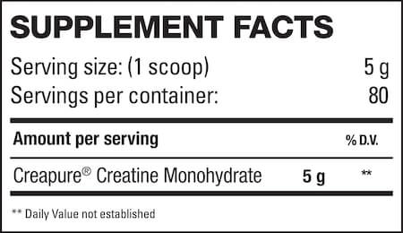 HD Muscle Crea-HD Nutrition Facts at Supplement Superstore Canada