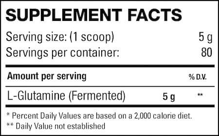 HD Muscle Gluta-HD Nutrition Facts at Supplement Superstore Canada