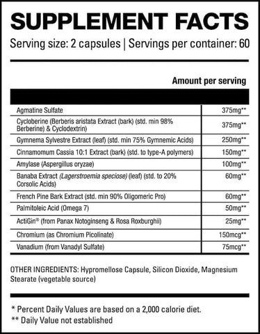 HD Muscle Glyco-HD Nutrition Facts at Supplement Superstore Canada