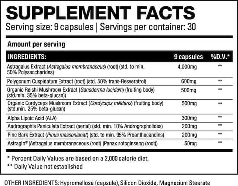 HD Muscle Kidney-HD Nutrition Facts at Supplement Superstore Canada