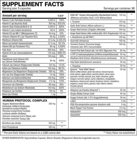 HD Muscle Vita-HD Nutrition Facts at Supplement Superstore Canada