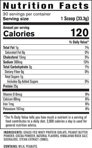 Jacked Factory Authentic Iso Nutrition Facts at Supplement Superstore Canada