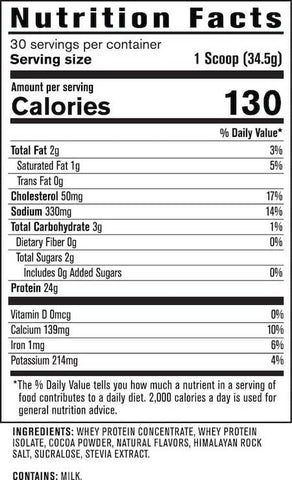 Jacked Factory Authentic Whey Nutrition Facts at Supplement Superstore Canada