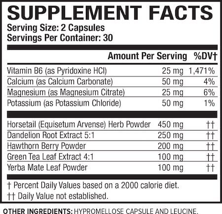 Jacked Factory Dry-XT Nutrition Facts at Supplement Superstore Canada