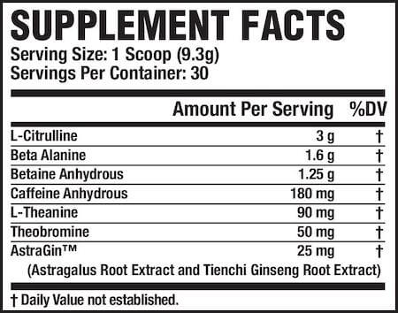 Jacked Factory NitroSurge Nutrition Facts at Supplement Superstore Canada