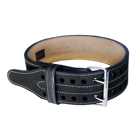 Double Prong Leather Power Lifting Belt Grizzly Fitness Supplement Superstore