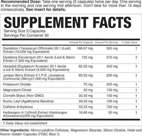 Magnum Drip Dry Nutrition Facts at Supplement Superstore Canada