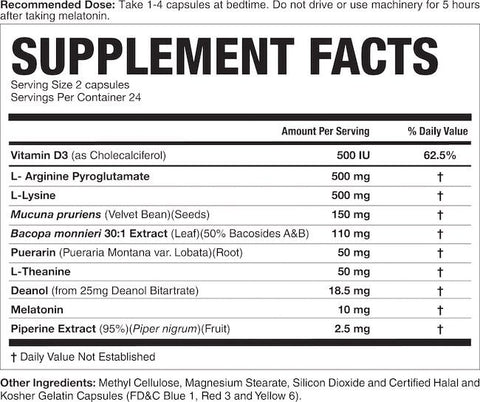Magnum G-Spring Nutrition Facts at Supplement Superstore Canada