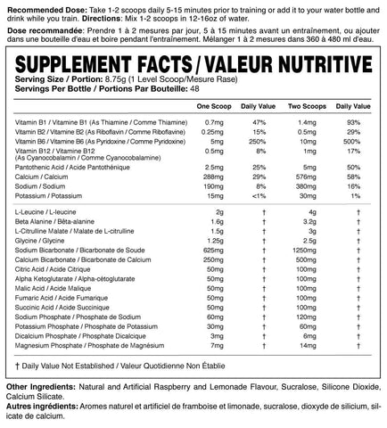 Magnum Nutraceuticals Opus Intra Workout BCAA Nutrition Facts at Supplement Superstore Canada