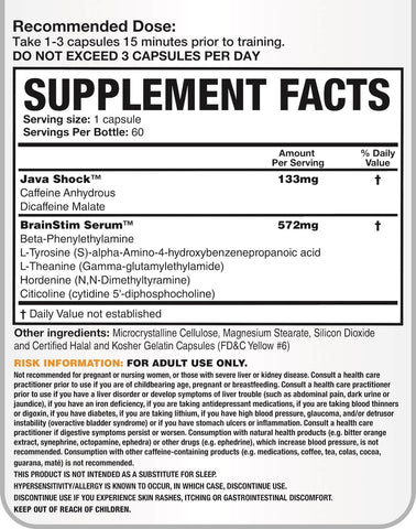 Magnum Nutraceuticals Rocket Science Nutrition Facts at Supplement Superstore Canada