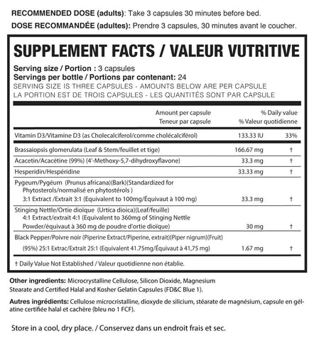 Magnum Nutraceuticals E-Brake Anti Estrogen Nutrition Facts at Supplement Superstore Canada