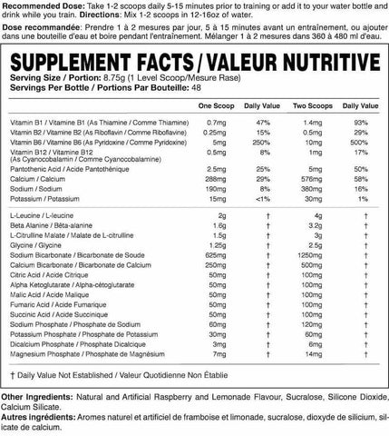 Magnum Opus Nutrition Facts at Supplement Superstore Canada