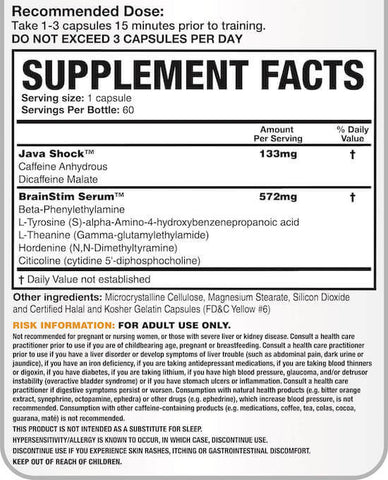 Magnum Rocket Science Nutrition Facts at Supplement Superstore Canada