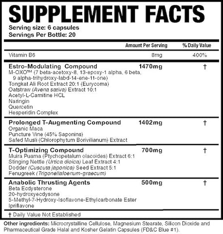 Magnum Thrust Nutrition Facts at Supplement Superstore Canada