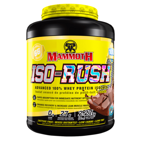 Mammoth Iso-Rush Whey Protein Powder Isolate Supplement Superstore