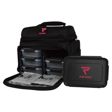 Performa Meal Prep Bag 6 Meal Carry Shakes, Meals and Supplements Supplement Superstore