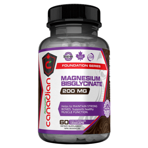 Magnesium Bisglycinate Naturally Canadian Mineral Supplement Superstore