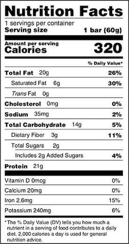 MTS Nutrition Outright Keto Bar Nutrition Facts at Supplement Superstore Canada
