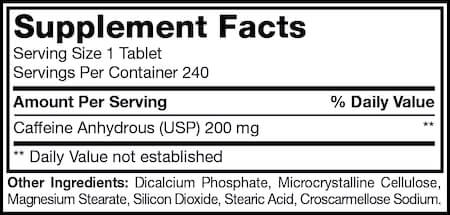 Mutant Caffeine Nutrition Facts at Supplement Superstore Canada