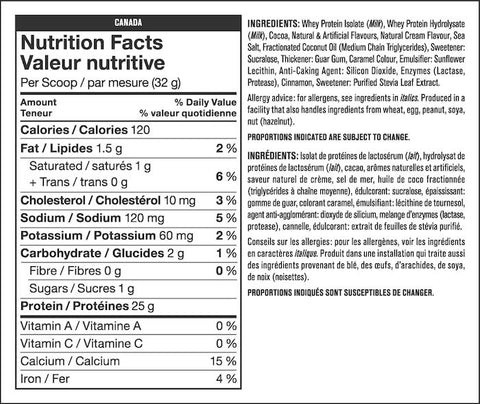 Mutant Iso Surge Nutrition Facts at Supplement Superstore Canada
