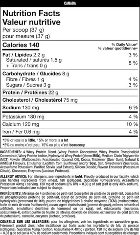 Mutant Whey Nutrition Facts at Supplement Superstore Canada
