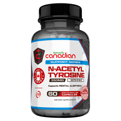 N-Acetyl L-Tyrosine Naturally Canadian Focus and Brain Function Supplement Superstore