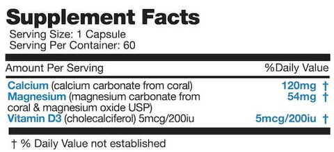 Naturally Canadian Coral Calcium Nutrition Facts at Supplement Superstore Canada