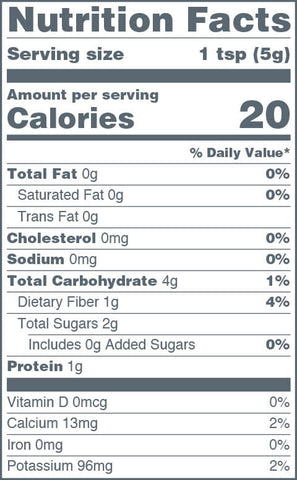 Navitas Organics Organic Gelatinized Maca Powder Nutrition Facts