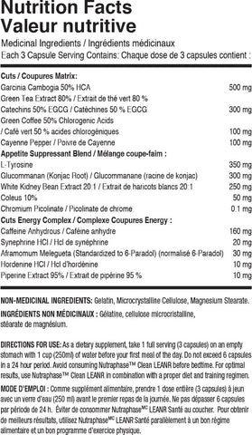 Nutraphase Clean Leanr Nutrition Facts at Supplement Superstore Canada