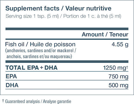 Nutrasea Omega-3 Nutrition Facts at Supplement Superstore Canada