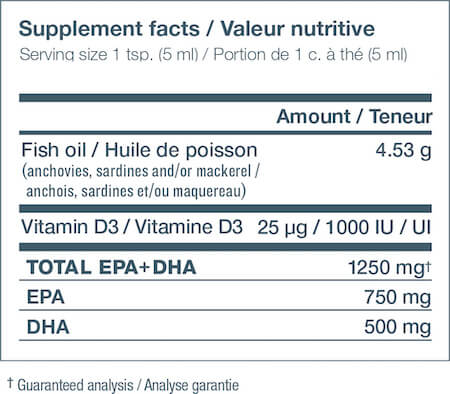 Nutrasea+D Omega-3 Nutrition Facts at Supplement Superstore Canada