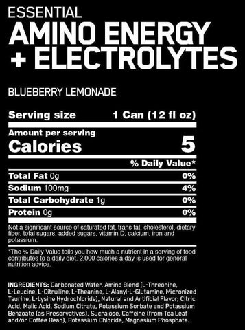 Optimum Nutrition Amino Energy Plus Electrolytes RTD Nutrition Facts at Supplement Superstore Canada